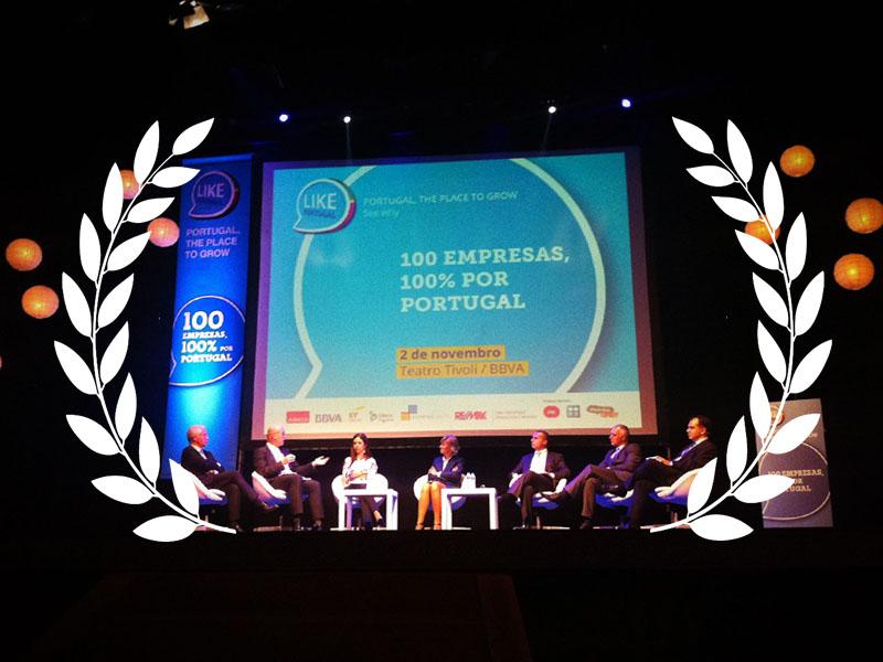 """A Hydraubox foi uma das 100 empresas reconhecida pelo """"Like Portugal"""", entre cerca de 400 mil empresas nacionais que melhor salvaguardam a importância da marca Portugal"""